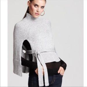 BCBGMAXAZRIA Melinda Cape Sweater Gray M/L